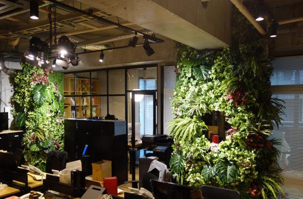 壁面緑化人工樹木・観葉植物リアル