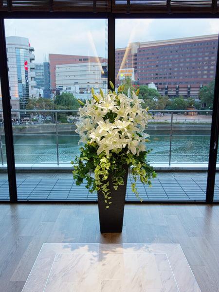 福岡のカサブランカ造花装飾