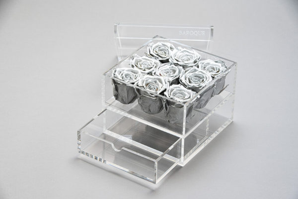 お花の誕生日プレゼント 高級なプリザーブドフラワーギフト アクリルケース