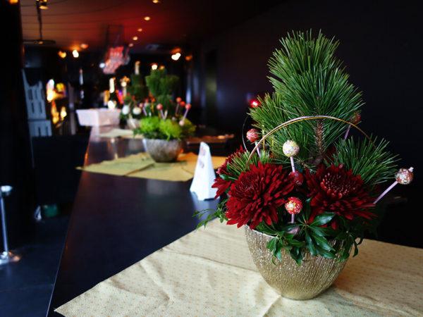 店舗の花・造花装飾