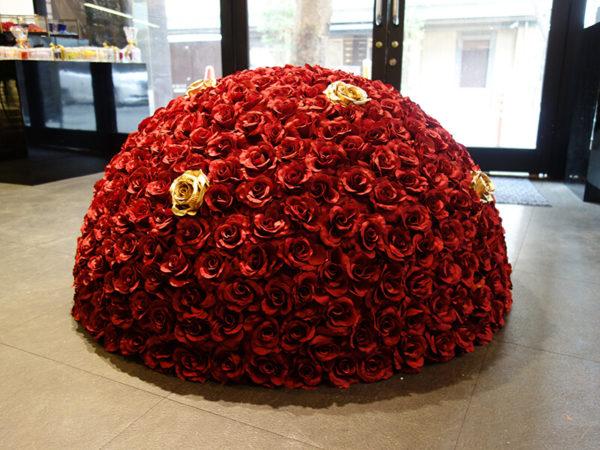 店舗の花・造花装飾 福岡市中央区けやき通り花屋BAROQUEバロック