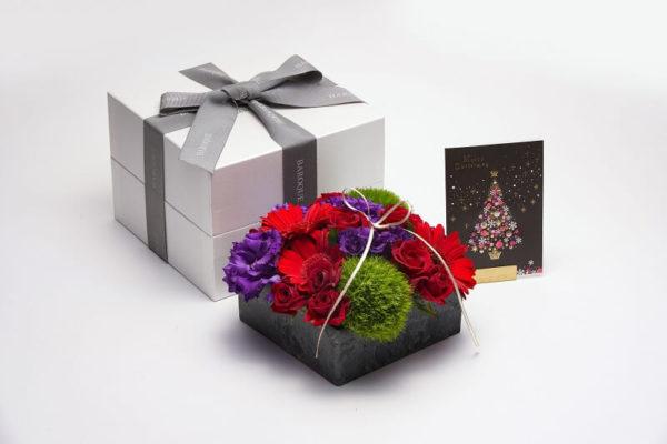 クリスマスの高級なお花プリザーブドフラワー