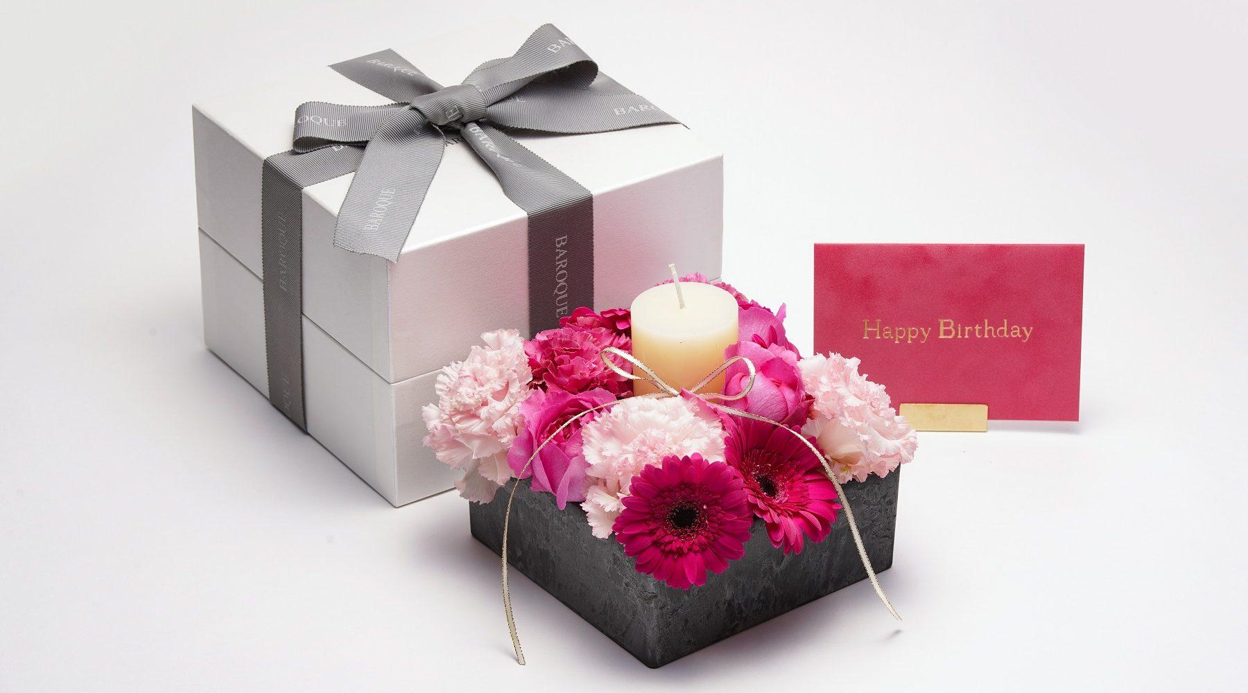 高級感のある誕生日プレゼント 福岡市中央区けやき通り花屋BAROQUEバロック
