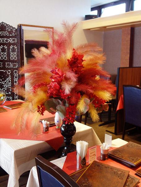 レストラン造花アレンジメント