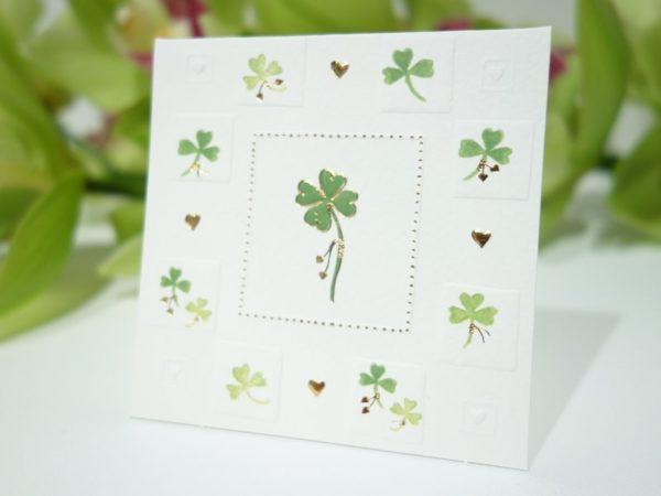 花束に付ける無地のメッセージカード